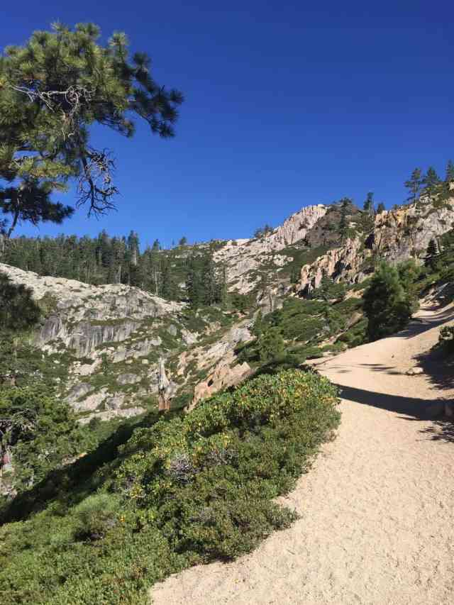 five lakes trail in squaw valley