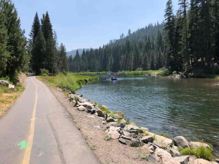 bike path next to the Truckee River