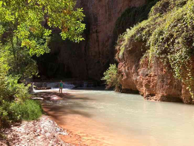 Beaver Falls or Fifty Foot falls is a good day trip from Havasu Falls