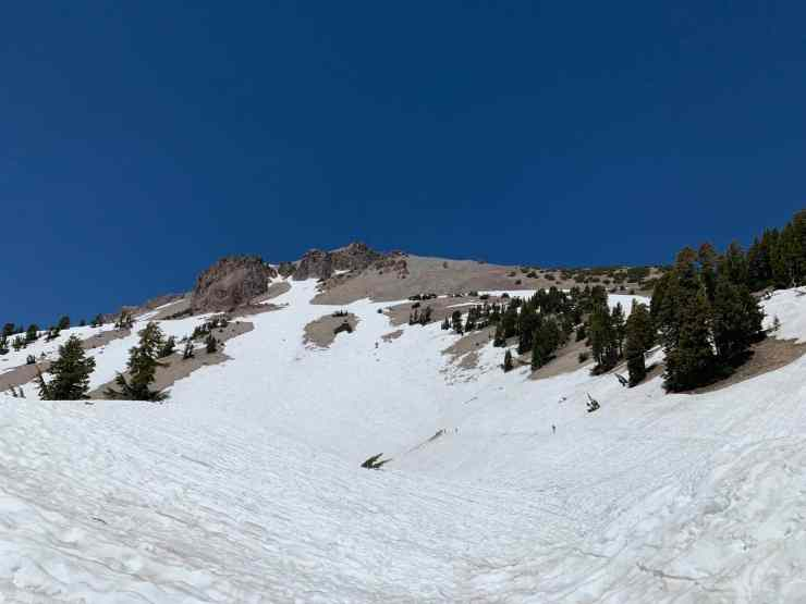 snow covered lassen peak