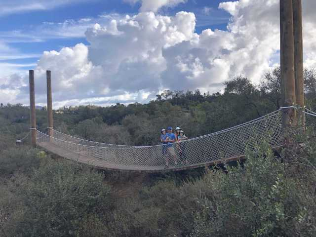 suspension bridge at san dieguito county park. One of San Diego's best kept hiking secrets