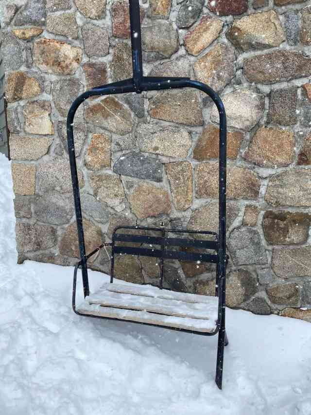 chairlift seat at Donner Ski Ranch near Truckee in Lake Tahoe