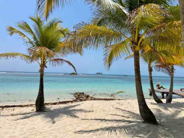 the most beautiful beaches in Belize are located on the cayes off coast of the mainland