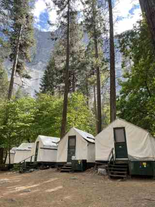 tent cabins at curry village in yosemite