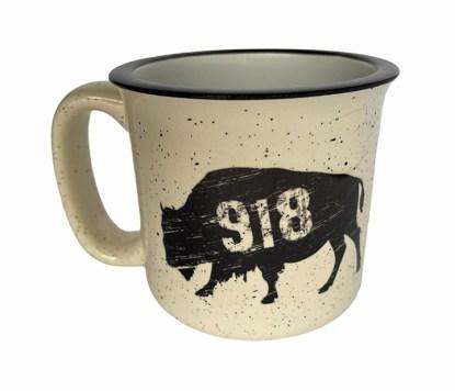 918 Oklahoma buffalo camp mug