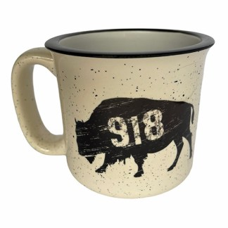 918 Oklahoma buffalo camp mug