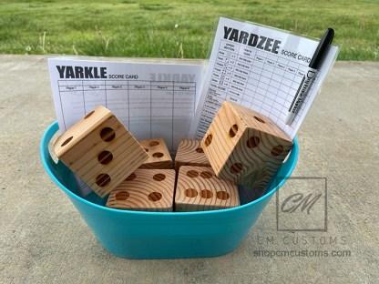 yard dice yardzee farkle game set