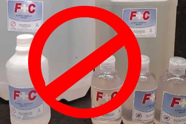 #CUIDADO La ANMAT prohibió una marca de alcohol líquido y en gel