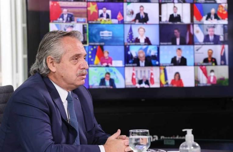 """""""Argentina ha puesto la acción climática y ambiental en el centro de sus convicciones"""" Así lo aseguró el presidente Alberto Fernández en la Cumbre de Lideres, de la que participó de manera virtual"""