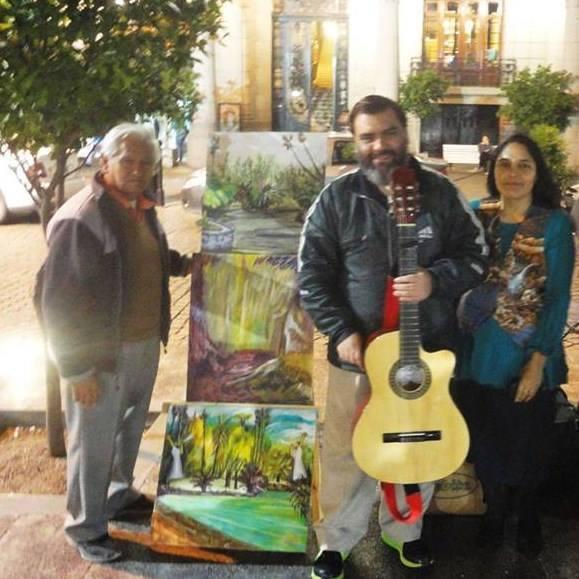 """""""Arte en las calles"""" con Dante y Tomás Valdiviezo"""