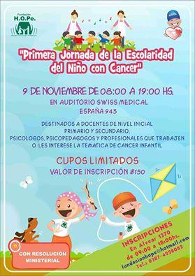 Primera Jornada de Escolaridad del niño con cáncer