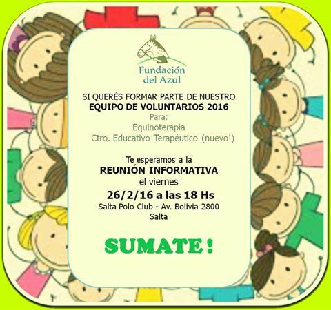 Cuenta regresiva para el ingreso de voluntarios a la Fundación de Equinoterapia del Azul