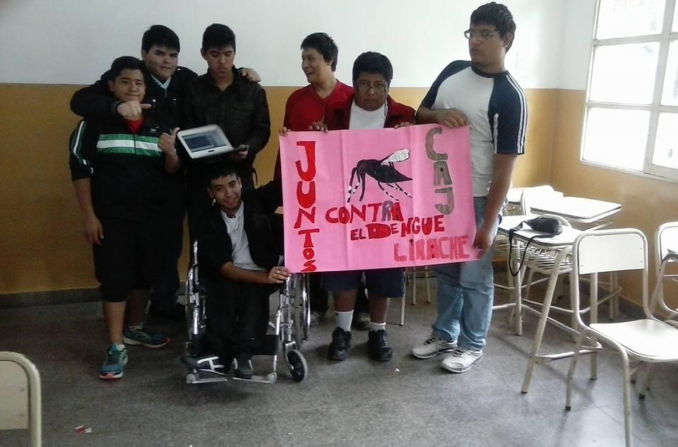 """Jóvenes del CAJ de Limache se suman a la campaña """"Todos contra el dengue"""""""