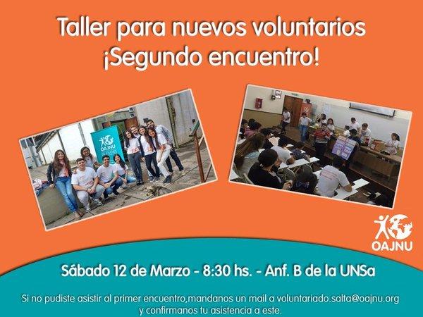 OAJNU continúa empoderando a jóvenes voluntarios