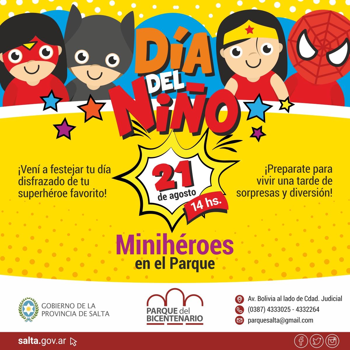 El Día del Niño se celebrará en el Parque del Bicentenario
