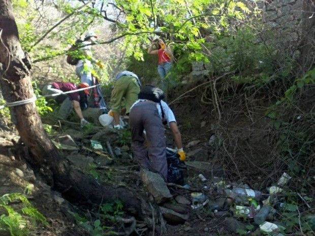 Nueva jornada de limpieza en cerro San Bernardo