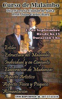 Curso de Malambo con Juan Carlos Báez