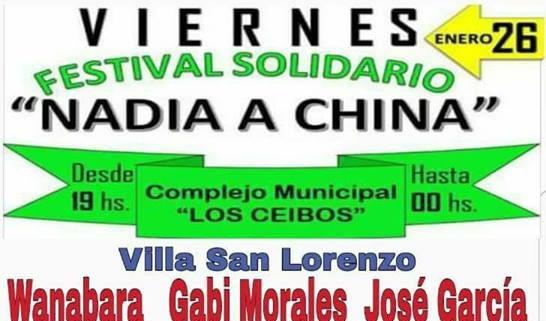 Gran festival solidario para que Nadia pueda viajar a China