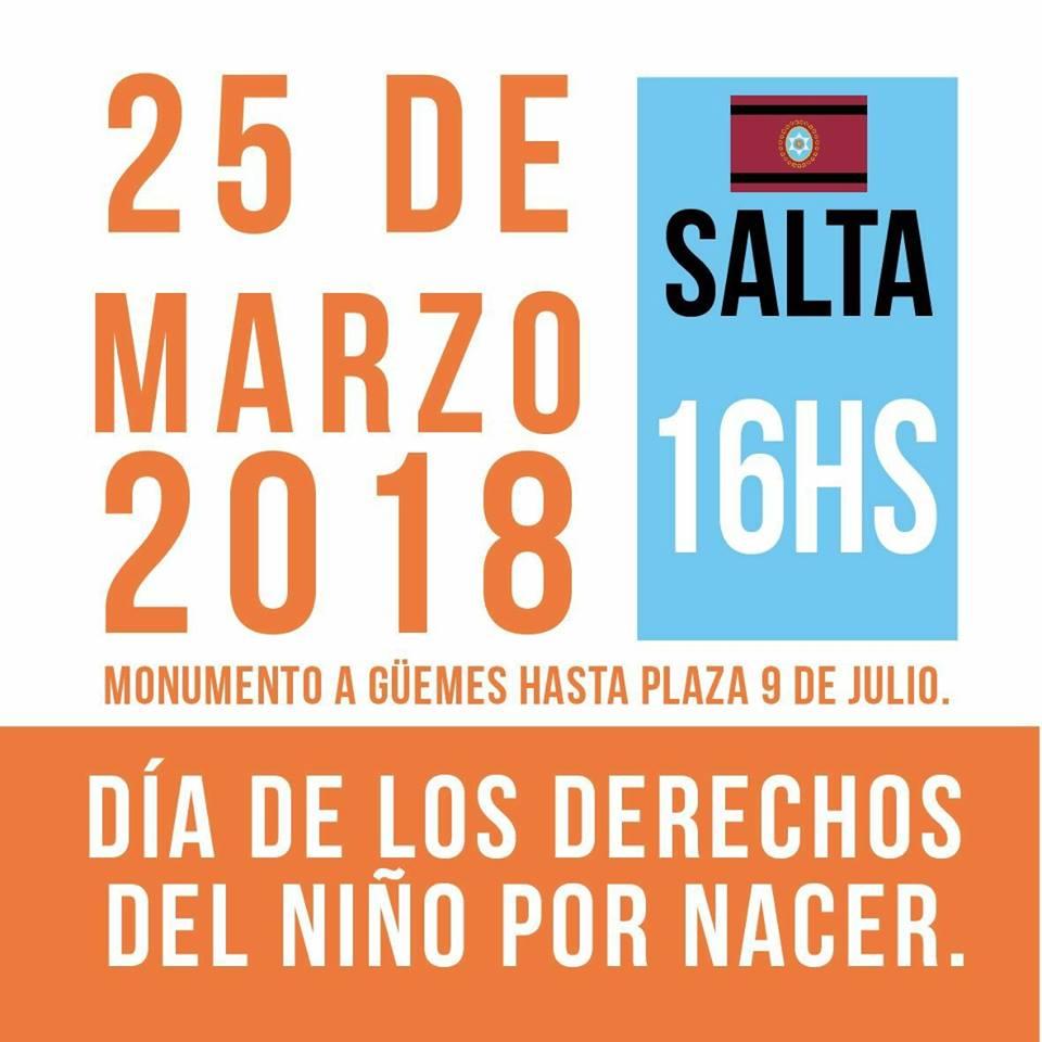 Salteños marcharán en defensa de los derechos del niño por nacer