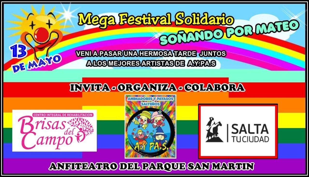 """La Asociación de Animadores y Payasos Salteños  realiza un megafestival solidario """"Soñando por Mateo"""""""