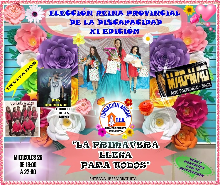 """Se realiza la XI Edición del Baile Provincial de la Discapacidad """"La primavera Llega para Todos"""""""