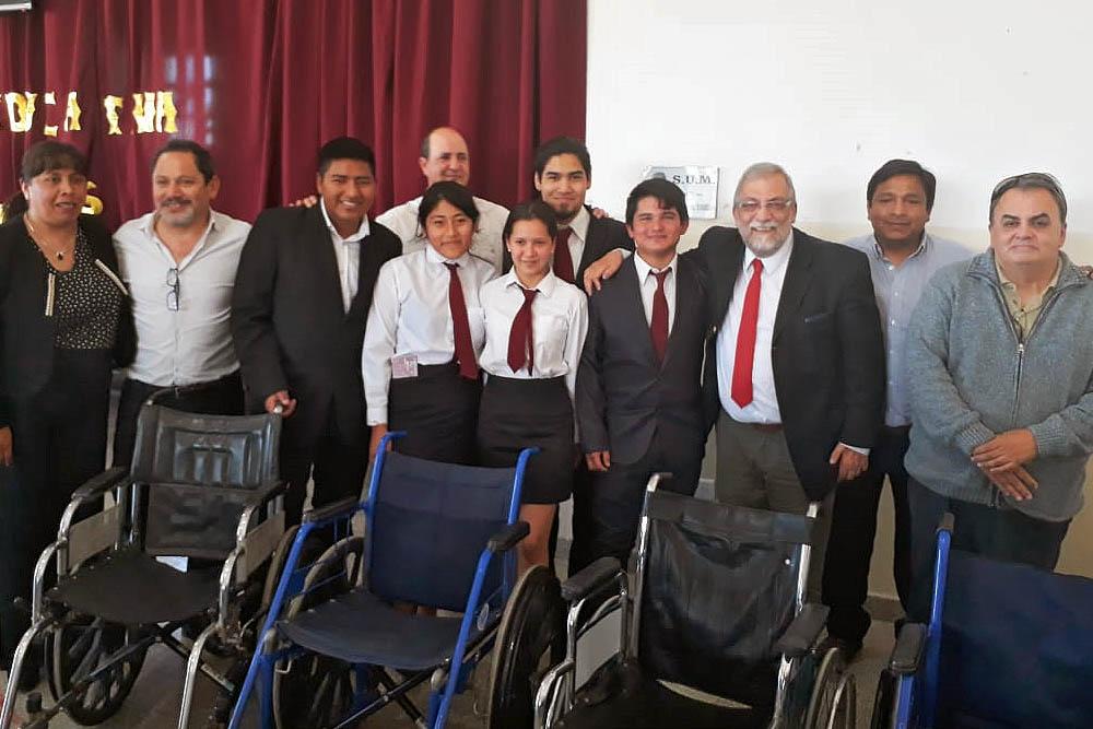 Jóvenes de la escuela de educación técnica N° 3106 Ingeniero Maury  reciclaron sillas de ruedas