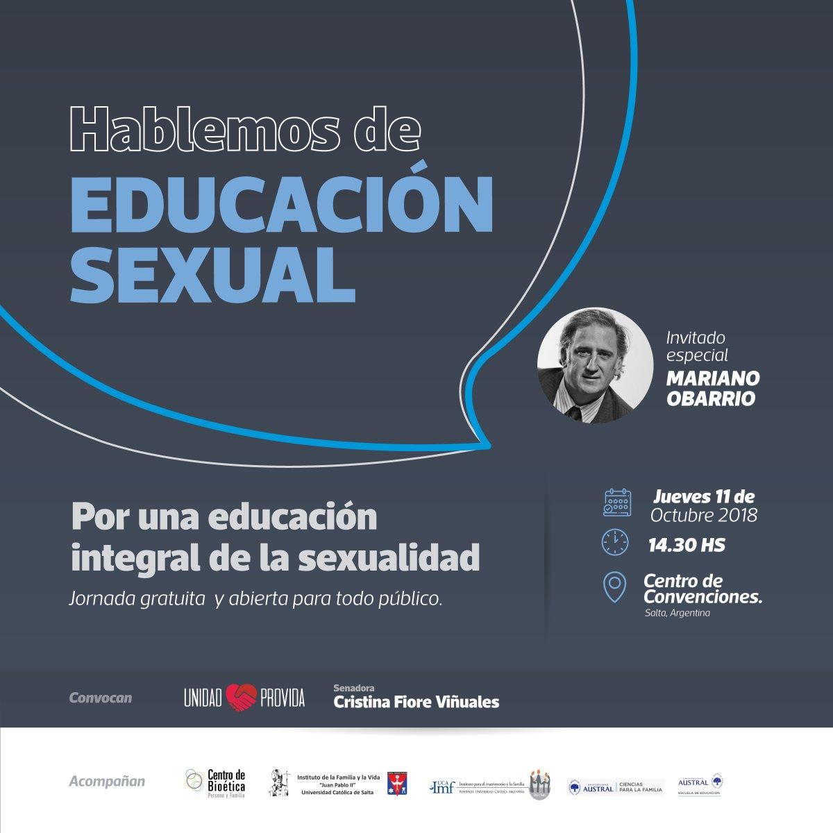 Este jueves se realiza una jornada sobre educación integral de la sexualidad