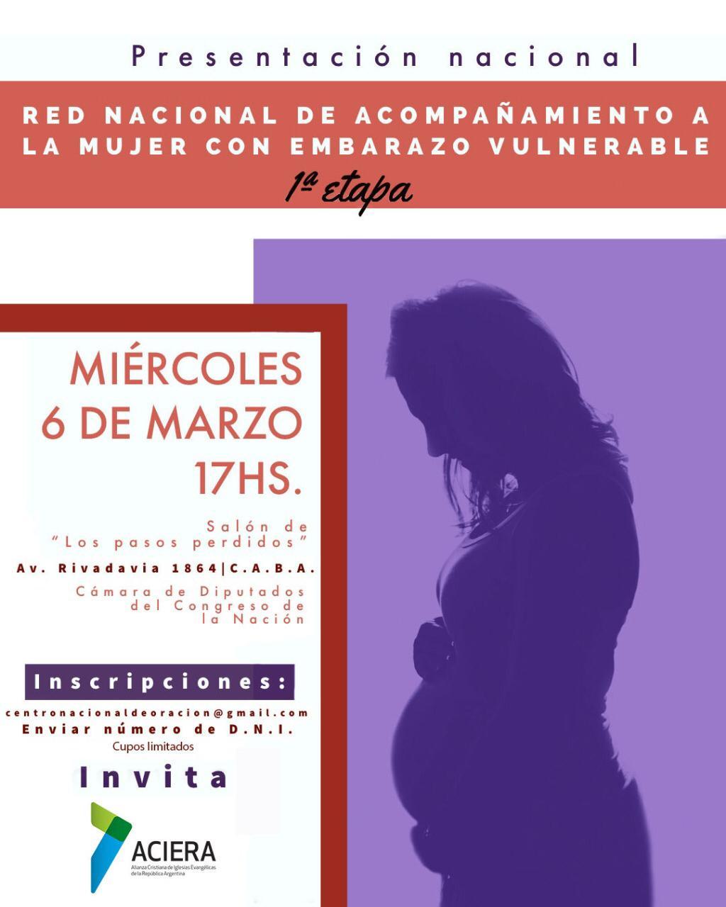 """Presentarán oficialmente a la """"Red Nacional de Acompañamiento a la Mujer con Embarazo Vulnerable"""""""