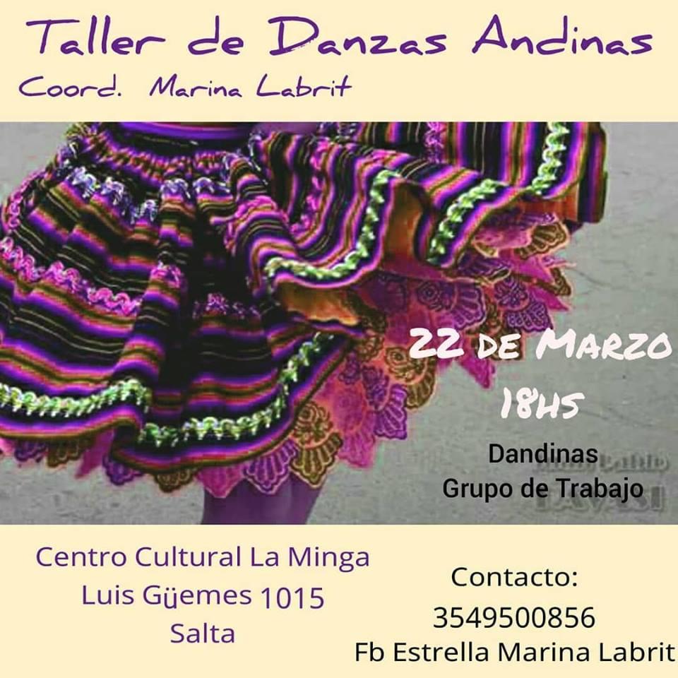 La Minga Salta brindará un taller de Danzas Andinas