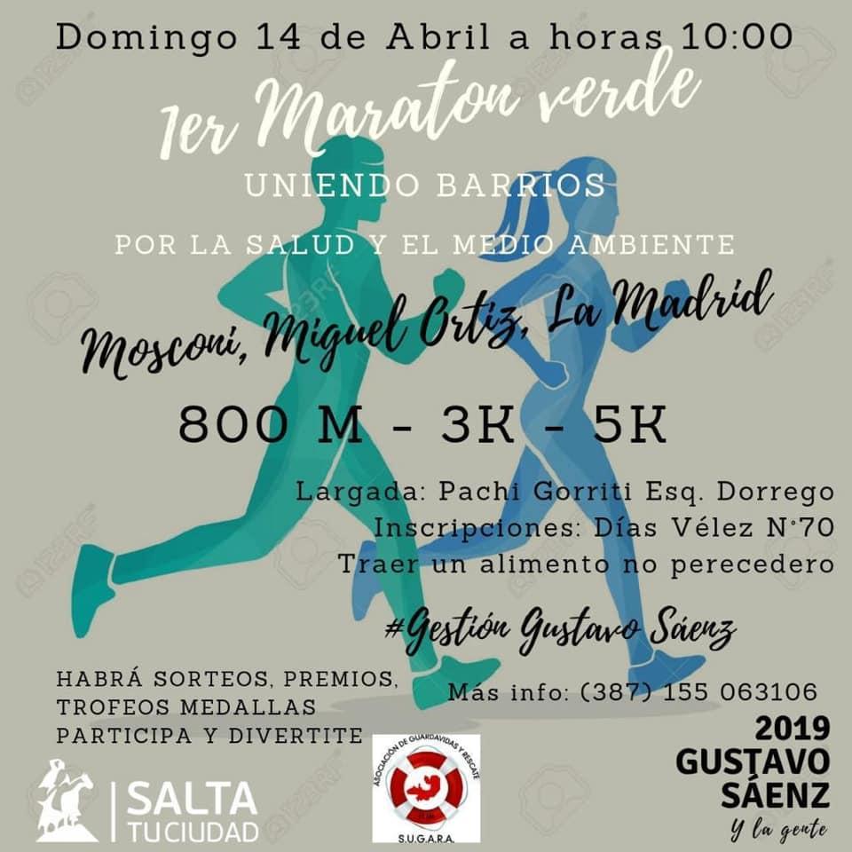Vecinos de barrios de la zona norte realizan la 1º Maratón Verde