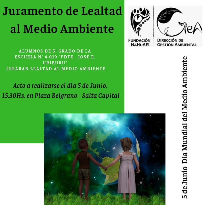Fundación Nahuael celebrará el Día Mundial del Medio en Plaza Belgrano