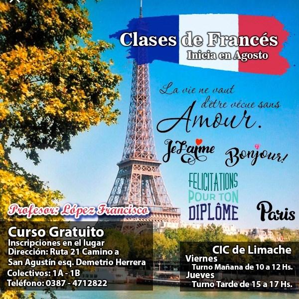 Inscriben para el curso gratuito de francés