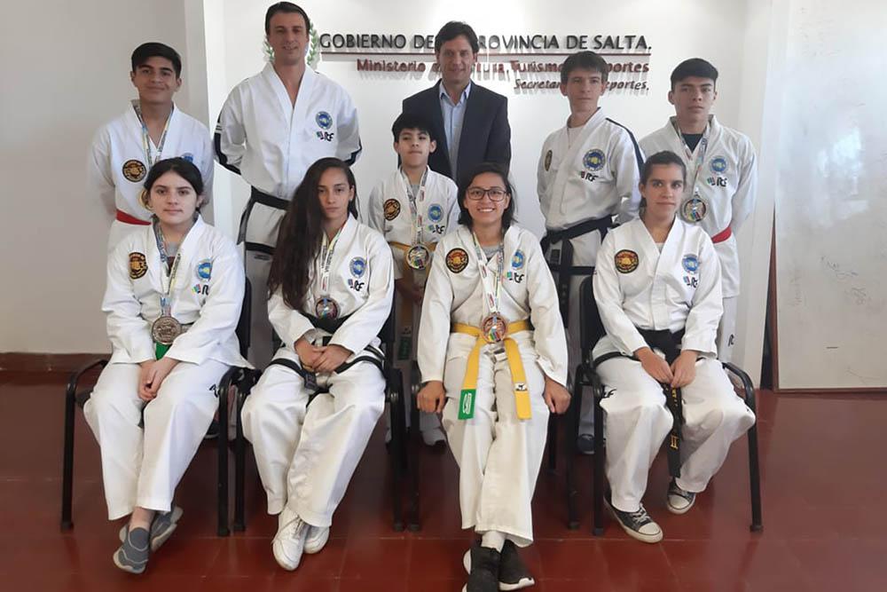 Salteños hicieron podio en el Sudamericano de Taekwondo ITF