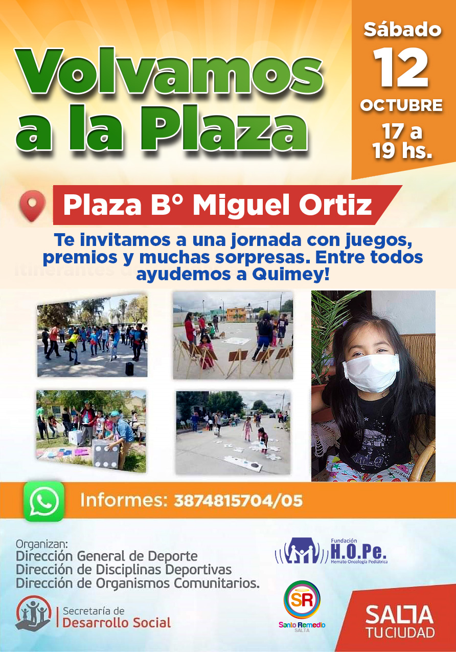 Gran movida solidaria en barrio Miguel Ortiz para ayudar a Quimey