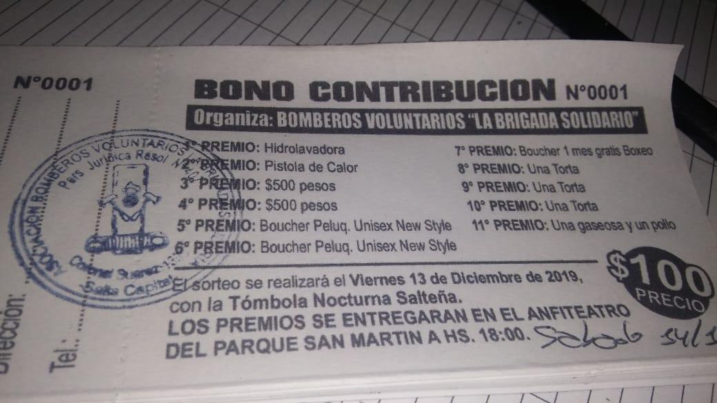 """Juntan dinero para retirar la autobomba del cuartel Bomberos Voluntarios """"Brigada Solidaria"""""""