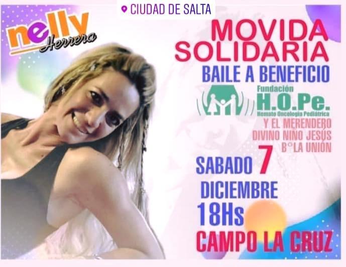 Nueva movida aerobica de Nelly Herrera para Fundación hope y el Merendero Divino Niño Jesús del Barrio La Unión
