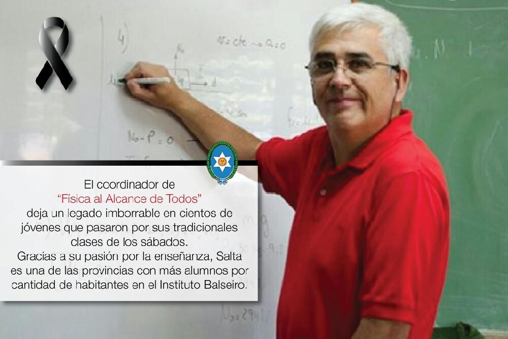 El Gobierno de Salta decretó duelo provincial por el fallecimiento del profesor Daniel Córdoba