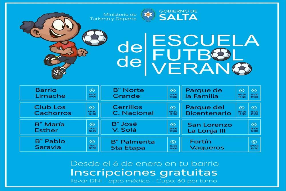 Chicos de todas las edades podrán participar durante el verano de las Escuelas de Fútbol