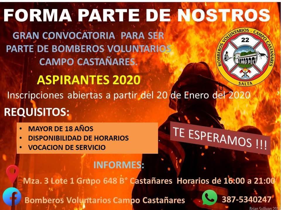 Convocan  a voluntarios para el cuartel de bomberos de Campo Castañares