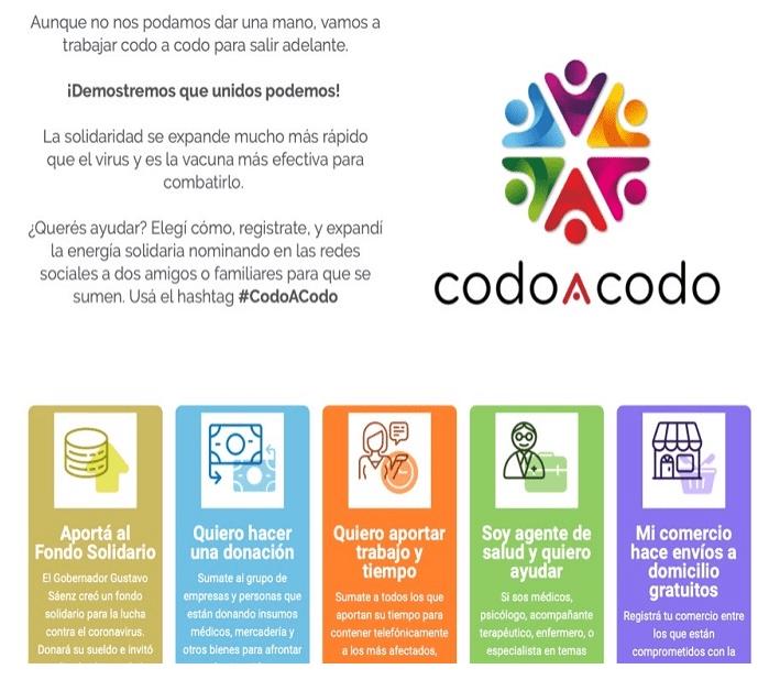 """El Gobierno habilita la plataforma """"Codo a Codo"""" para administrar las donaciones"""