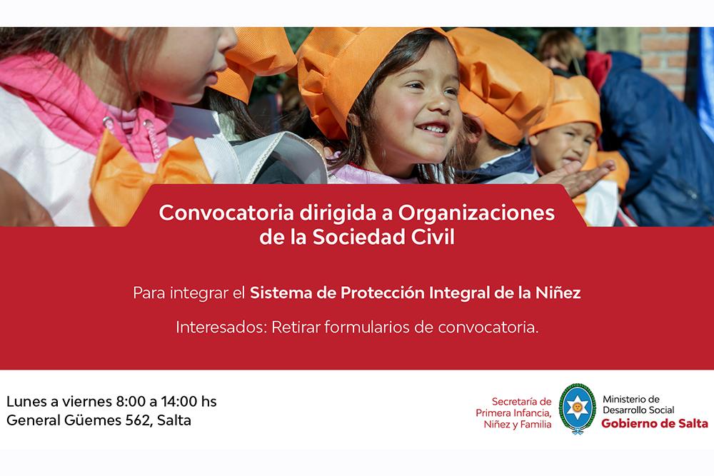 Convocan a ONG que trabajan por los derechos de niños, niñas y adolescentes