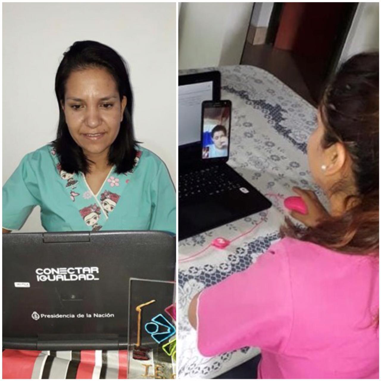 Docentes salteños utilizan plataformas digitales para dar clases a los chicos internados