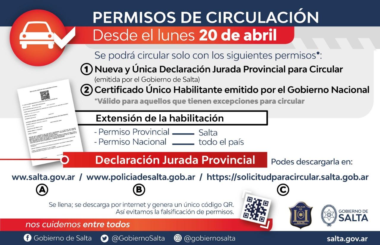 Desde hoy regirá el Permiso Provincial Único para circular