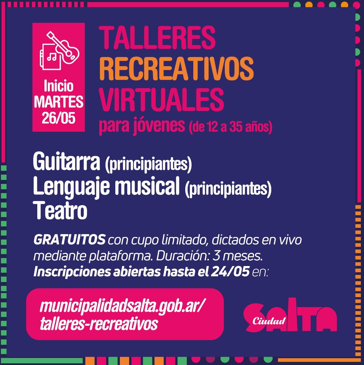 La Ciudad ofrece talleres recreativos virtuales para jóvenes