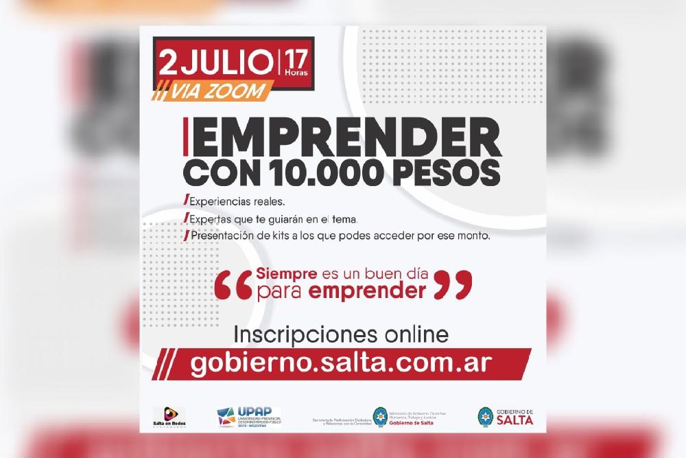 Capacitación gratuita para emprender con 10.000 pesos o menos