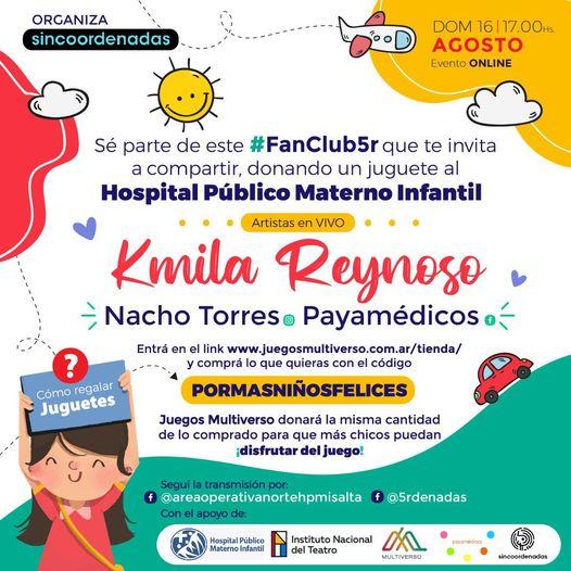Evento virtual para celebrar el día de la niñez en el Hospital Materno Infantil