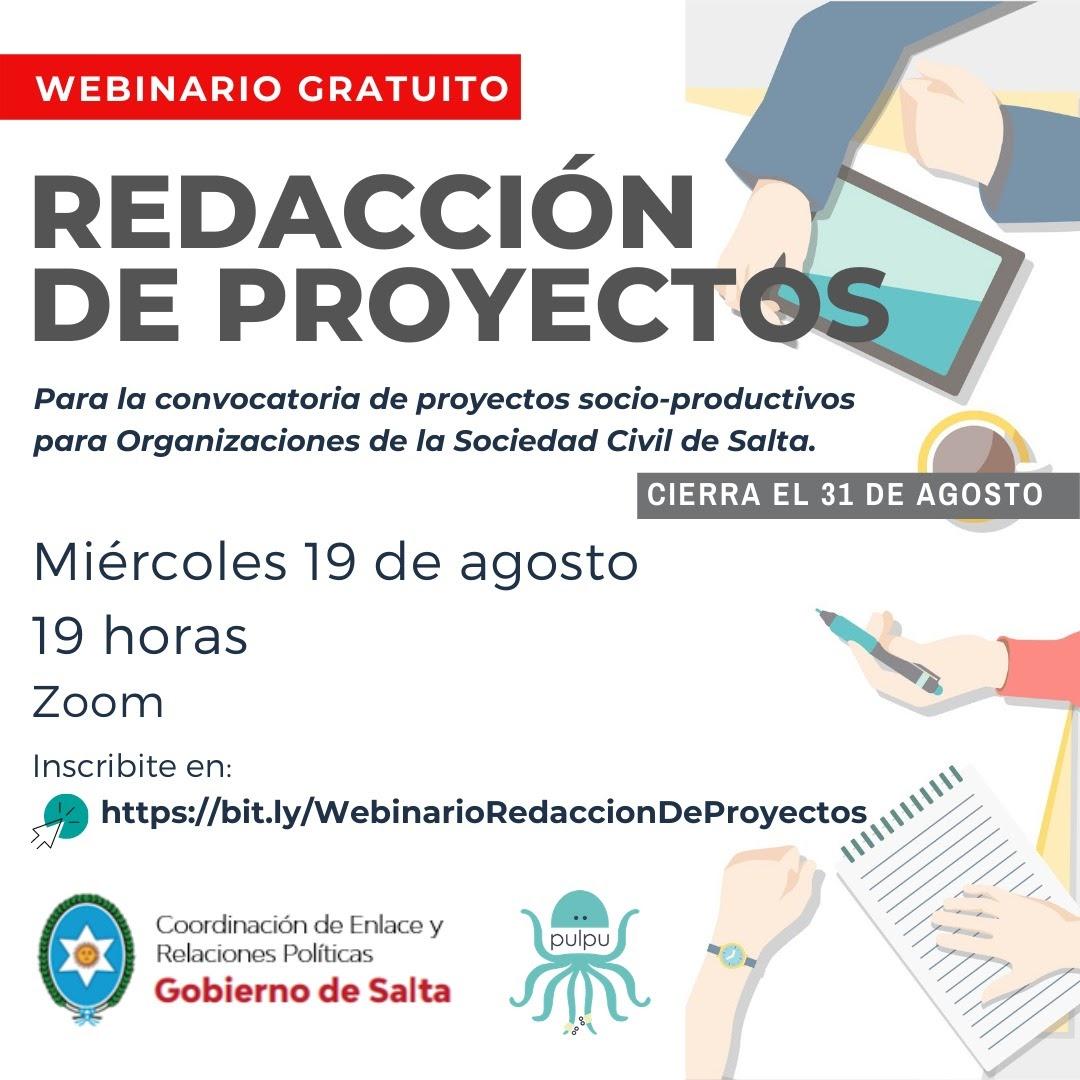En forma gratuita capacitarán en redacción de proyectos socio-productivos