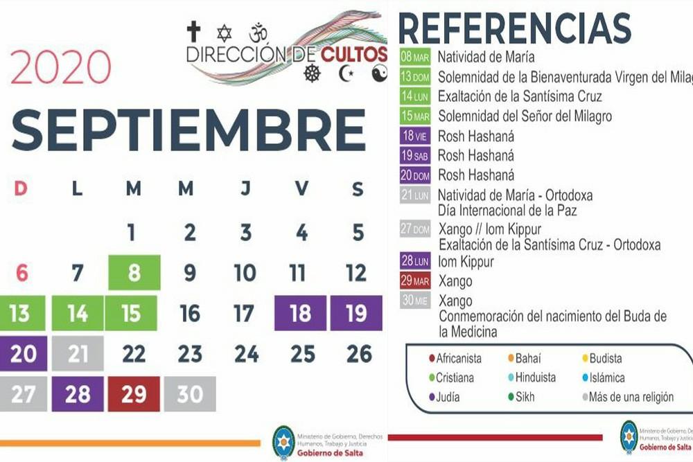 Salta cuenta con un Calendario Interreligioso