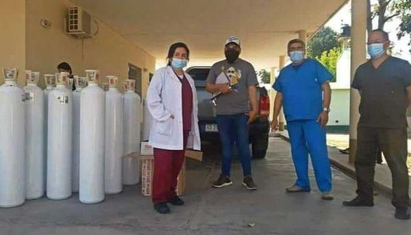 Vecinos aportan tubos de oxígeno y otros elementos al hospital de Rosario de Lerma