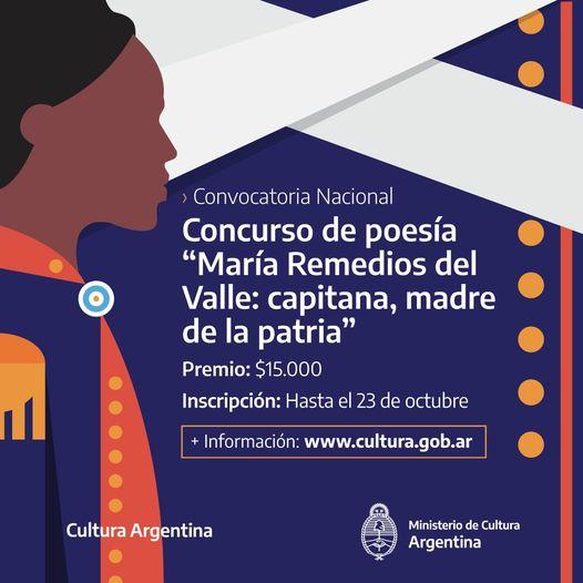 """Concurso de Poesía """"María Remedios del Valle: capitana, madre de la patria"""""""
